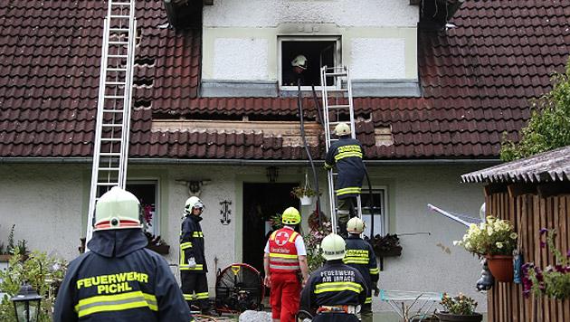 Vater rettet seine zwei Kinder vor dem Feuertod (Bild: Matthias Lauber)