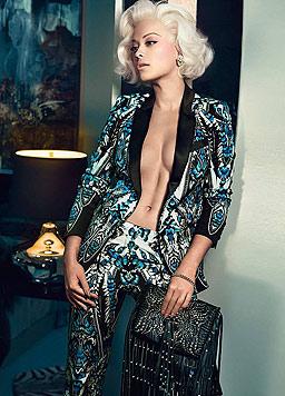 Designer Roberto Cavalli hat Rita Ora als Marilyn Monroe in Szene gesetzt. (Bild: Rita Ora for Cavalli)