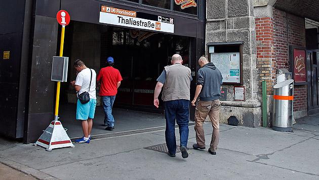 Bei der U6-Station Thaliastraße kam es zur folgenschweren Schlägerei. (Bild: Reinhard Holl)