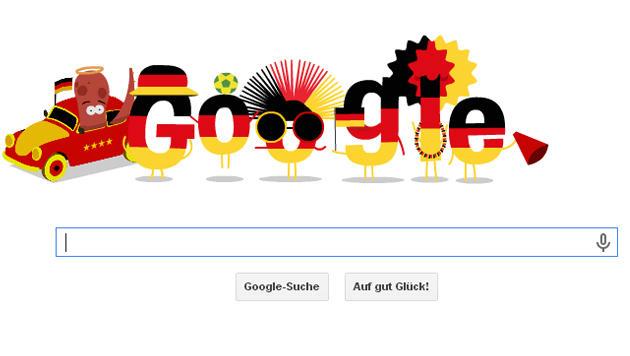 Google feiert Fußball-Weltmeister Deutschland (Bild: google.de)