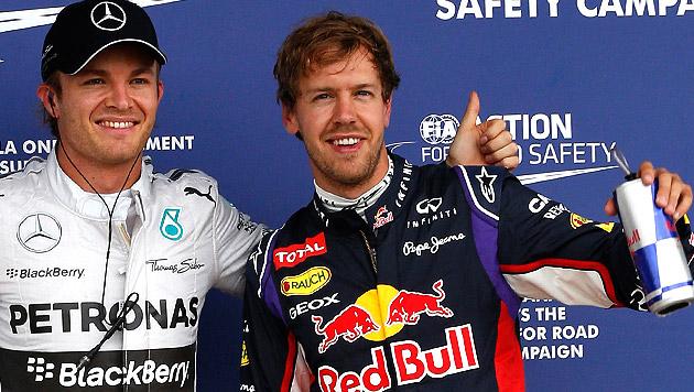 Rosberg leidet mit strauchelndem Champion Vettel (Bild: AP)
