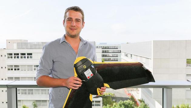 Schweizer Drohne sucht Vermisste nach Katastrophen (Bild: EPFL Lausanne/Alain Herzog)