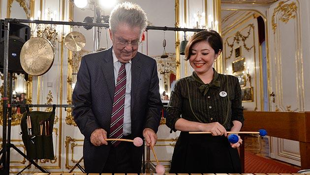 Bundespräsident Heinz Fischer bei der Eröffnung des ImPulsTanzes (Bild: APA/Herbert Neubauer)