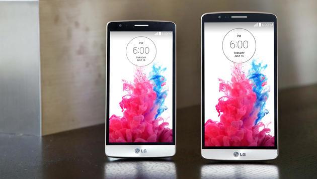 Das G3 S (links) sieht dem G3 sehr ähnlich, kommt aber mit deutlich schwächerer Hardware. (Bild: LG)