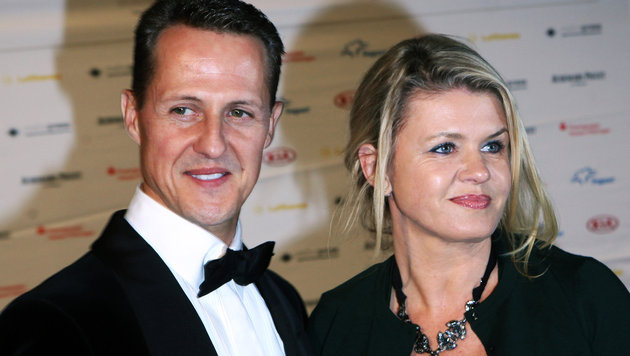 Michael Schumacher und seine Gattin Corinna (Bild: APA/dpa/Fredrik von Erichsen)