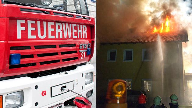 Nachbarn retten verletzte Frau aus brennendem Haus (Bild: Andreas Graf, APA/WERNER KERSCHBAUMMAYR)