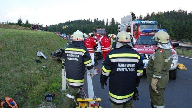 7 teils schwer Verletzte bei Autounfällen in OÖ (Bild: Pressestelle BFK Urfahr-Umgebung)