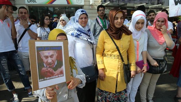 Wien: 11.000 Teilnehmer bei Gaza-Demonstration (Bild: Peter Tomschi)