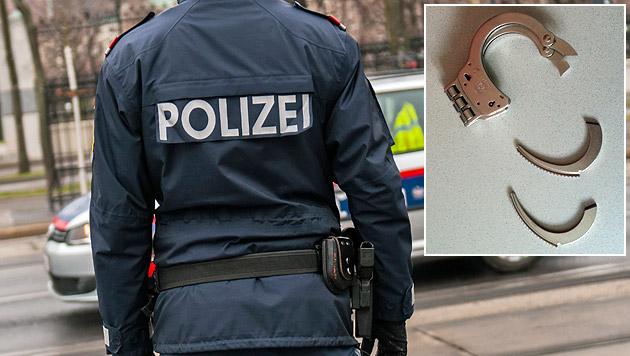Brutales Trio schlug und trat auf Polizisten ein (Bild: Polizei, Andreas Graf (Symbolbild))
