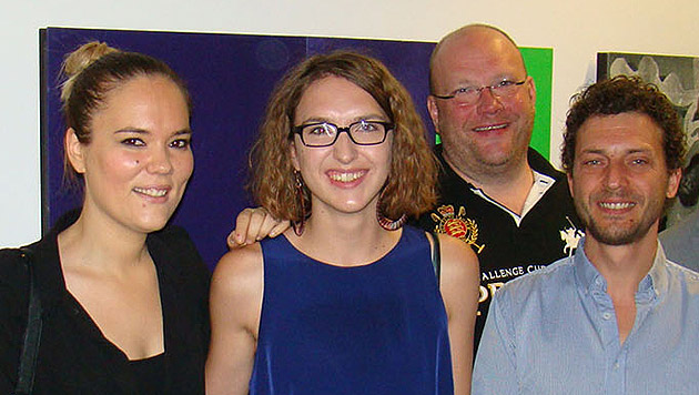 Isabella Langer mit Julia und Christian Platzer vom Green Garden und WKS-Obmann Ernst Pühringer (Bild: WKS)