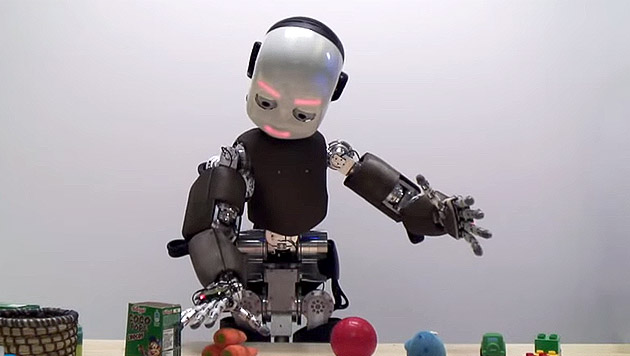 Kinder-Roboter sollen Pädophile therapieren (Bild: YouTube.com/iCub HumanoidRobot)
