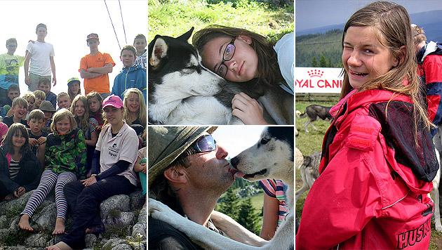 Kinder und Huskys erleben gemeinsam Abenteuer (Bild: Husky Abenteuer Camp, dez)
