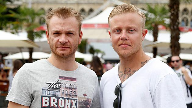 Roland und Moritz (v.l.n.r.) stellten ihre Zivilcourage unter Beweis. (Bild: Zwefo)