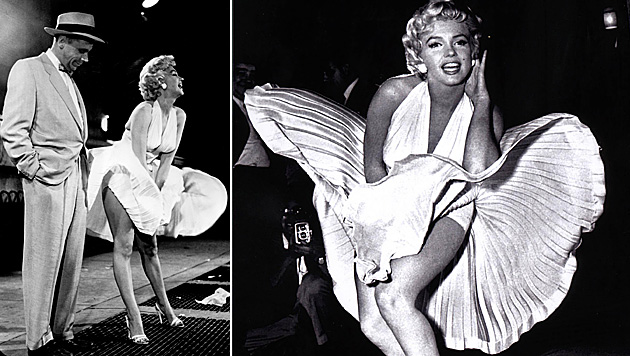 "Marilyn Monroe mit Tom Ewell in ""Das verflixte 7. Jahr"". (Bild: APA/AP, dpa)"