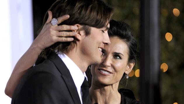 Demi Moore und Ashton Kutcher: Da war die Beziehung noch in Ordnung. (Bild: PAUL BUCK/EPA/picturedesk.com)