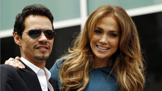 Jennifer Lopez und Marc Anthony: Die Ehe hielt nicht. (Bild: AP)