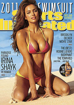 "Irina Shayk am Cover der ""Sports Illustrated"" (Bild: AP)"