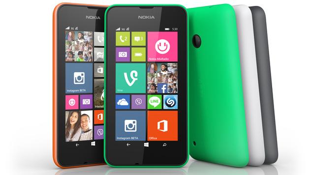 Nokia Lumia 530: Einsteiger-Smartphone für 99 Euro (Bild: Microsoft)