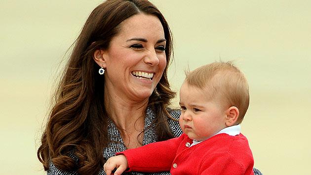 Prinz George: Geburtstagsparty mit Uroma Queen (Bild: AFP)