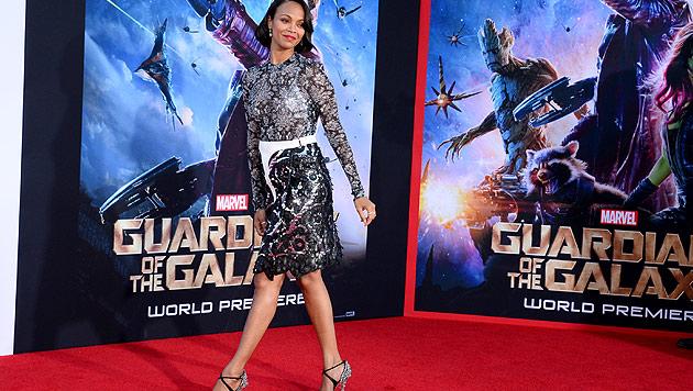 US-Schauspielerin Zoe Saldana ist schwanger (Bild: Jordan Strauss/Invision/AP)