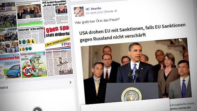 FPÖ-Chef Strache fällt auf Satire-Artikel rein (Bild: facebook.com/HCStrache)