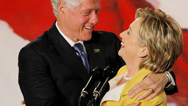 Trump stürzt sich auf Bill Clintons Sexskandale (Bild: EPA/JUSTIN LANE)