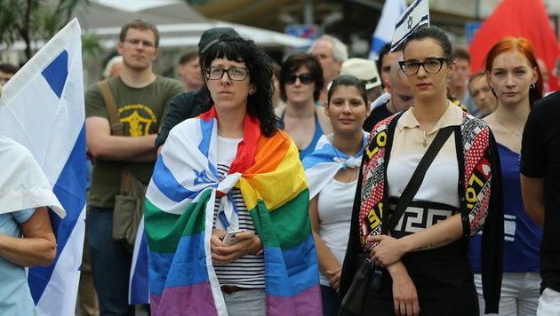 Anti-Israel-Kundgebung und Gegendemo in Wien (Bild: Peter Tomschi)