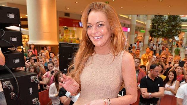Lindsay Lohan in der PulsCity in Linz (Bild: APA/ANDREAS TISCHLER/VIENNA PR)