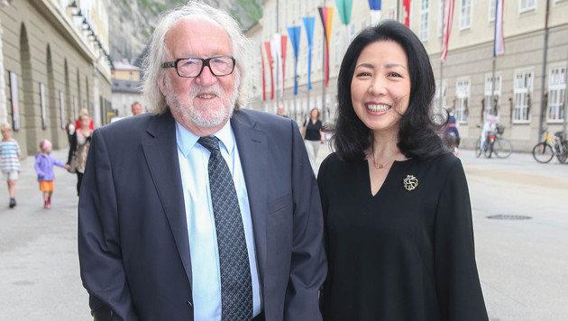 Architekt Willhelm Holzbauer mit Ehefrau Mari (Bild: APA/NEUMAYR/MMV)
