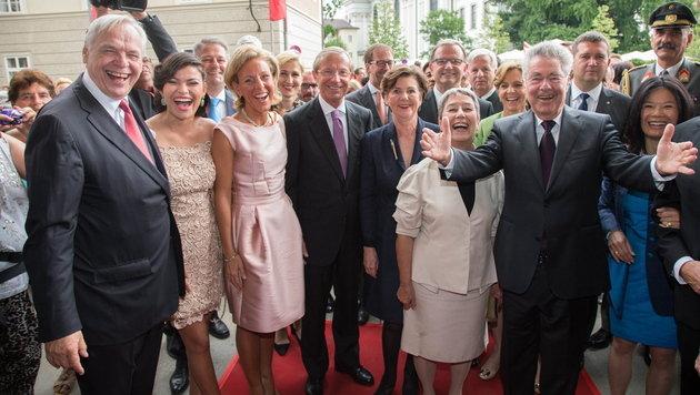 Salzburger Festspiele eröffnet - Plädoyer für EU (Bild: APA/NEUMAYR/MMV)