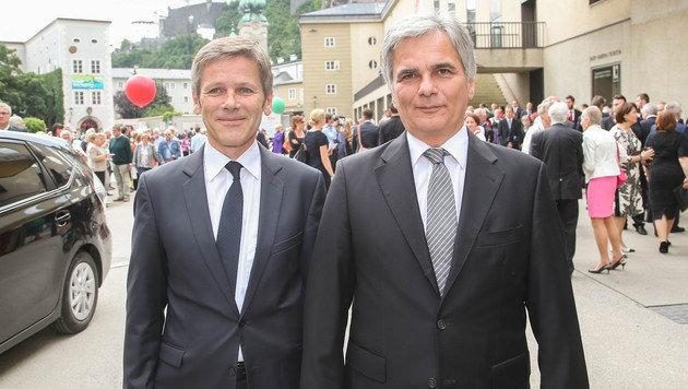 Bundeskanzler Werner Faymann mit Kulturminister Josef Ostermayer (Bild: APA/NEUMAYR/MMV)
