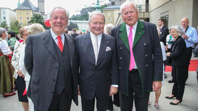 Johannes Graf Walderdorf, Wolfgang Porsche und Baron Friedrich Mayr-Melnhof (Bild: APA/NEUMAYR/MMV)
