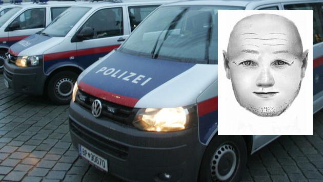 Die Polizei hat ein Phantombild des Sex-Täters veröffentlicht und bittet um Hinweise. (Bild: Polizei, Andi Schiel)