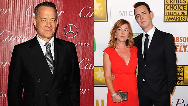 Colin Hanks und seine Ehefrau Samantha Bryant machten Tom Hanks bereits zweimal zum Großvater. (Bild: APA/EPA/NINA PROMMER, Richard Shotwell/Invision/AP)