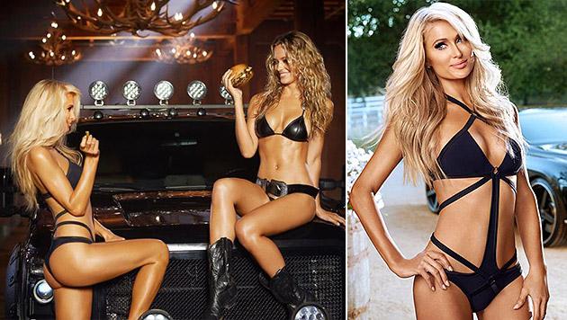 So sexy präsentiert sich Paris Hilton in ihrem Werbecomeback. (Bild: Youtube.com/ CarlsJr)