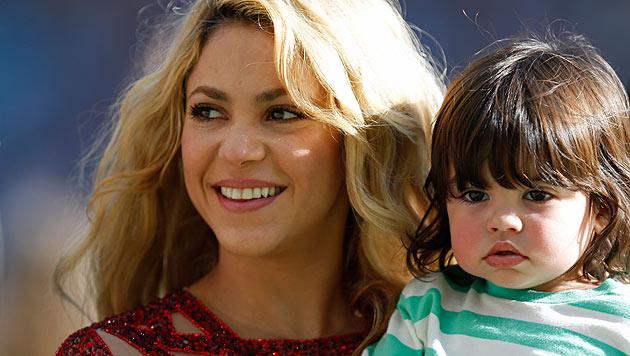 Shakira: Baby hat Fußballer-Füße wie der Papa (Bild: AP/Frank Augstein)