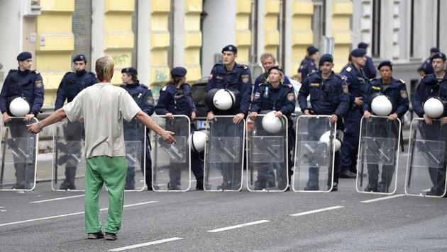 Staat bleibt auf Kosten für Räumung sitzen (Bild: APA/HERBERT NEUBAUER)
