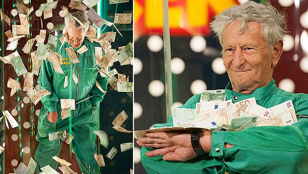 """Der steirische Serien-Glückspilz in der """"Money Maker""""-Sendung vom 20. Juli (Bild: ORF/Andreas Friess)"""