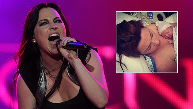 Evanescence-Frontfrau Amy Lee ist Mama geworden (Bild: MARCELO SAYAO/EPA/picturedesk.com, instagram.com/amylee)