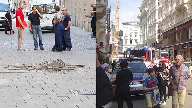 "Explosion in Wien: ""Feuerball schoss aus Boden"" (Bild: Martin A. Jöchl)"