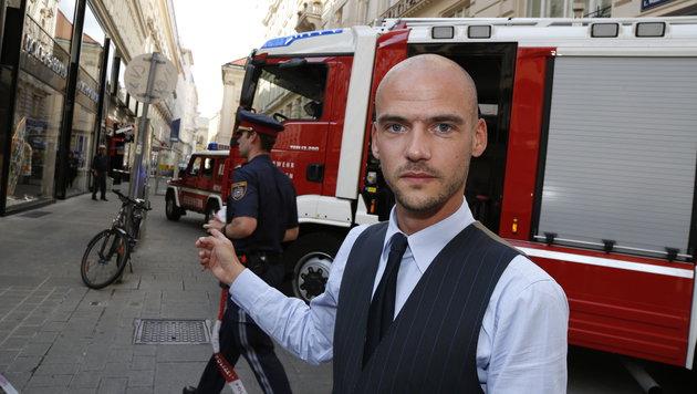 Augenzeuge Christoph Schlederer sah die Explosion. (Bild: Martin A. Jöchl)