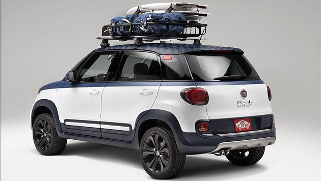 fiat 500l vans surfboards statt kinderwagen der vans. Black Bedroom Furniture Sets. Home Design Ideas