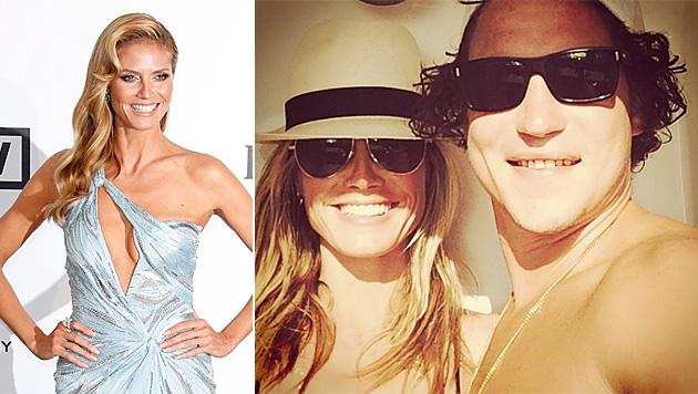 Heidi Klum: Liebes-Selfie mit Lover Vito Schnabel (Bild: APA/EPA/GUILLAUME HORCAJUELO, instagram.com/heidiklum)