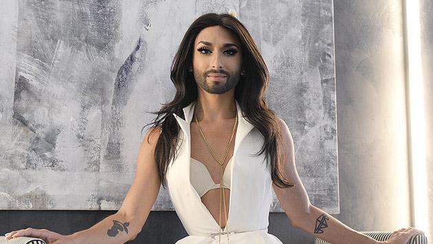 """Conchita feiert bei """"Wetten, dass..?"""" mit """"Heroes"""" Weltpremiere. (Bild: APA/HANS KLAUS TECHT)"""