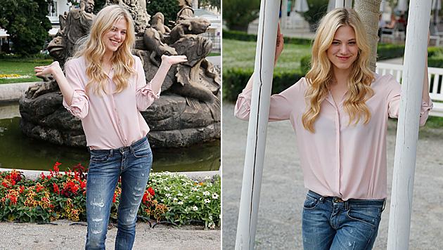 """Larissa Marolt beim """"Krone""""-Fotoshooting (Bild: Zwefo)"""