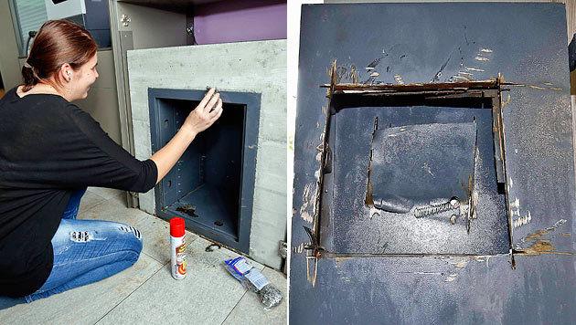 Profi-Einbrecher schnitten Tresor mit Flex auf (Bild: Markus Tschepp)