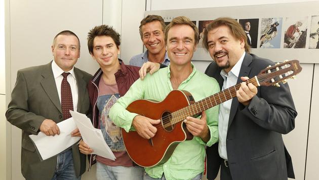 Jury stimmte die Vorschläge selber an: Heher, le Play, Angerer, Gabauer und Hanisch (Bild: Martin Jöchl)