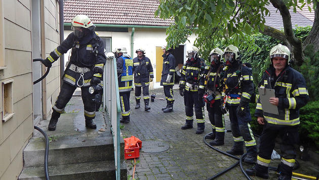NÖ: 57-Jährige kommt bei Wohnhausbrand ums Leben (Bild: FF Pfaffstätten u. FF Tribuswinkel)