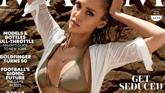 Jessica Alba 2014 auf dem Maxim-Cover (Bild: Zoom.in)
