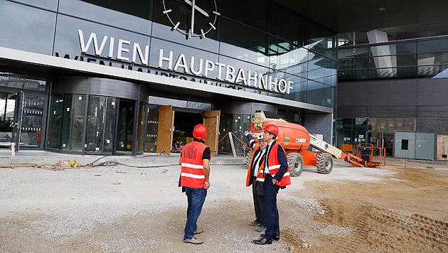 """""""Krone""""-Exklusivtour durch den Wiener Hauptbahnhof (Bild: Martin A. Jöchl)"""